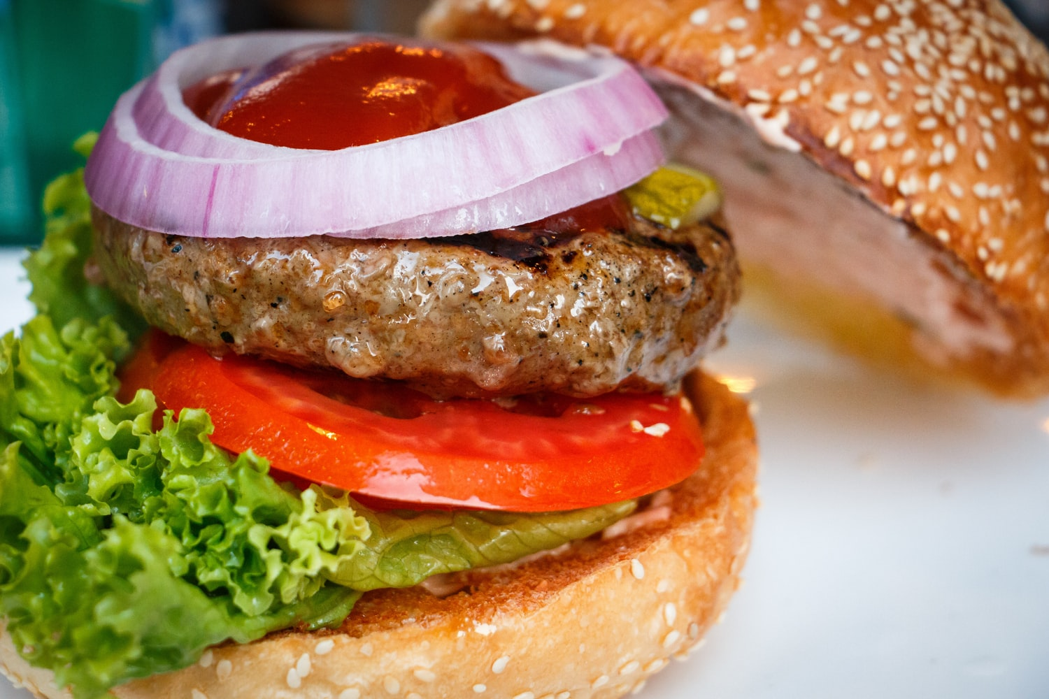 Burger with toppings