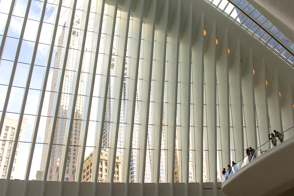 Inside the Oculus NYC with stunning views of New York