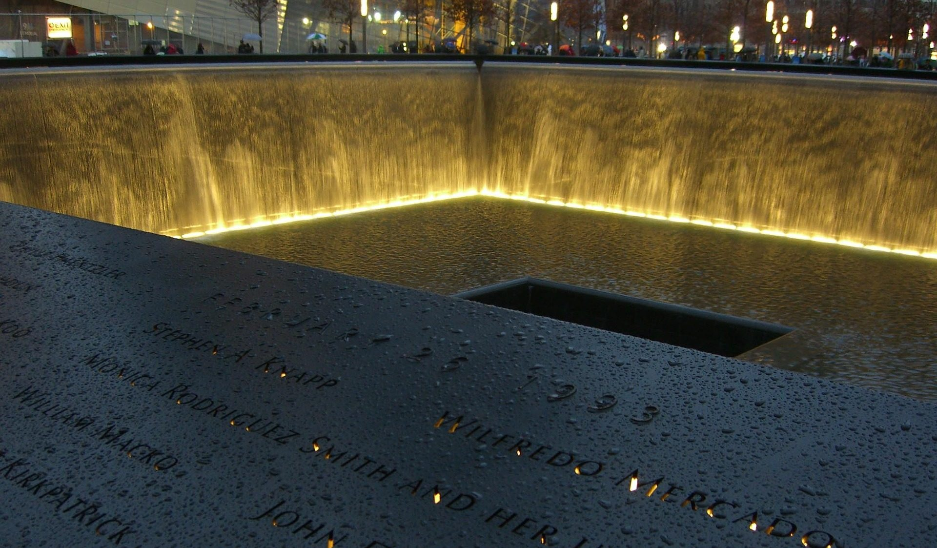 Memorial Pool with Lights