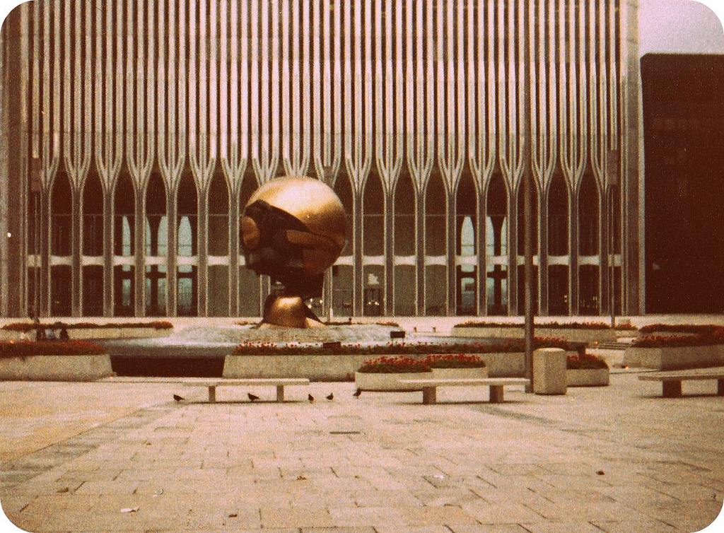 Sphere in the World Trade Center Plaza