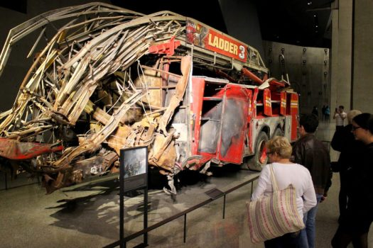 New York City Fire Department Ladder 3 Truck on display in the 9/11 Museum