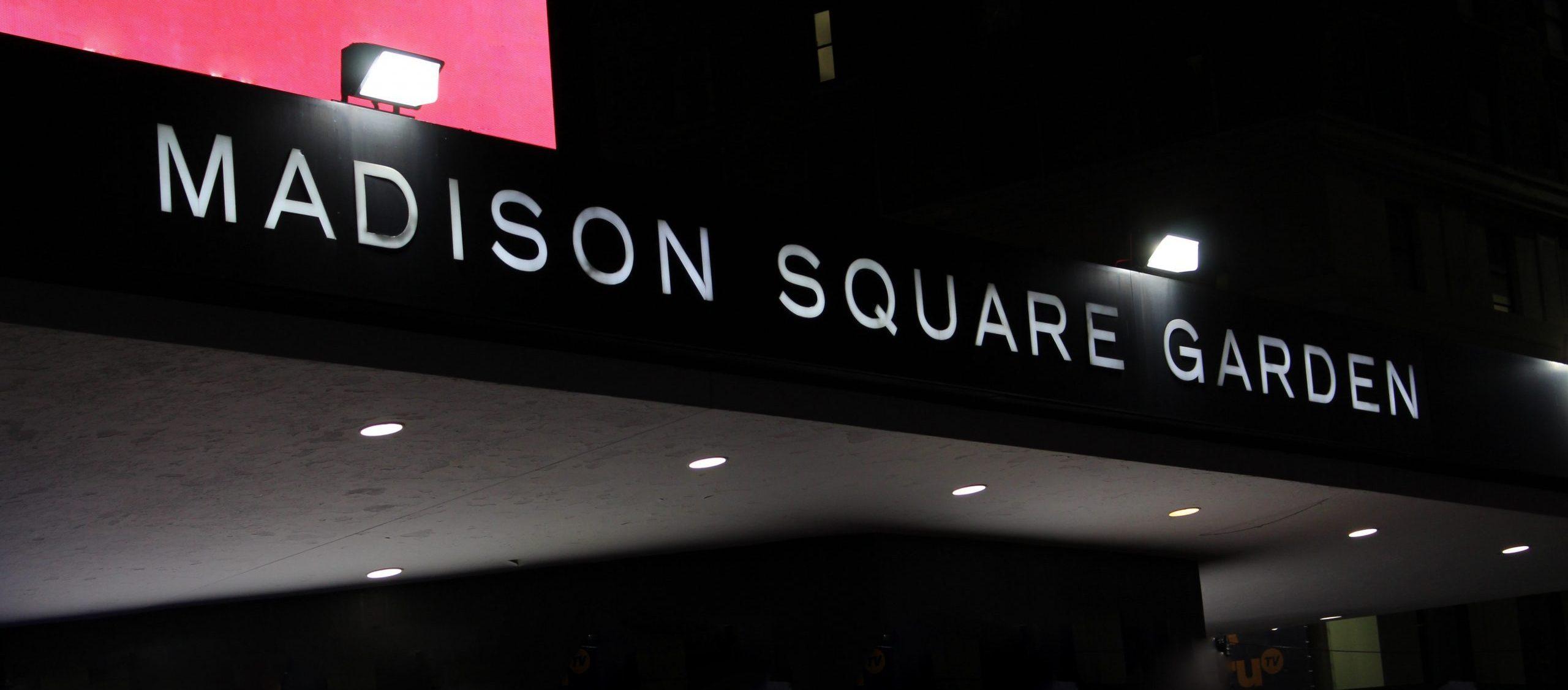 Madison Square Garden sign
